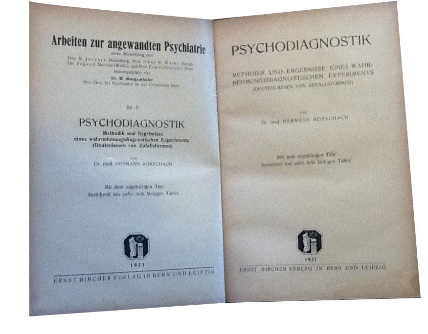 """Psychodiagnostik"" di Hermann Rorschach stampata nel 1921"
